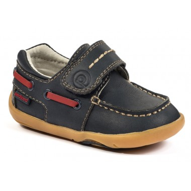 Grip 'n' Go - Norm Navy Boat Shoe