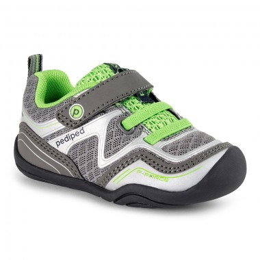 Grip 'n' Go - Force Silver Lime Athletic Shoe