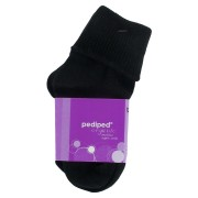 Organic Cotton Turn Cuff Socks (Colour: Black)