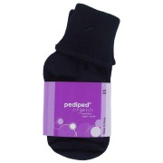 Organic Cotton Turn Cuff Socks (Colour: Navy)